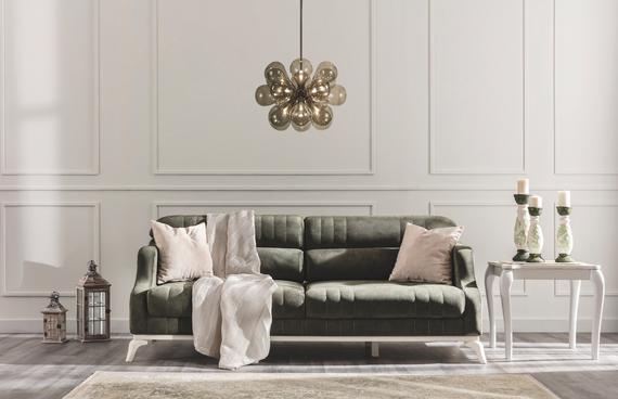 Arwen Sleeper Sofa with Storage - Green
