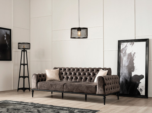 Dante Tufted Sleeper Sofa - Espresso