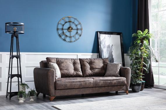 Didem Sleeper Sofa with Storage - Truffle