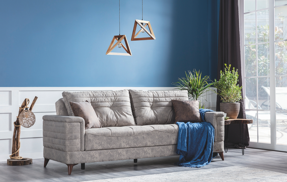 Dorlion Sleeper Sofa with Storage - Stone