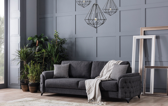 Havana Sleeper Sofa - Charcoal