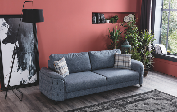 Havana Sleeper Sofa - Heather Blue