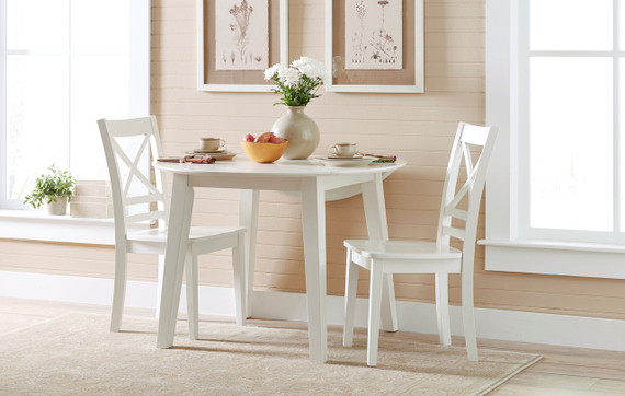 Sally Round Drop Leaf Table and Chair Set