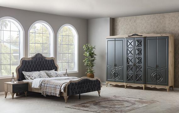 Balat Gray Bedroom