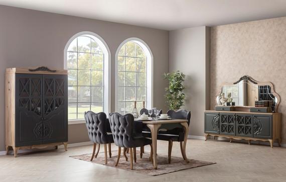 Balat Gray Dining Room
