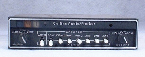 AMR-350 Audio Panel and Marker Beacon Receiver Closeup