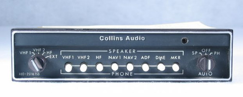 AUD-251H Audio Panel and Intercom Closeup