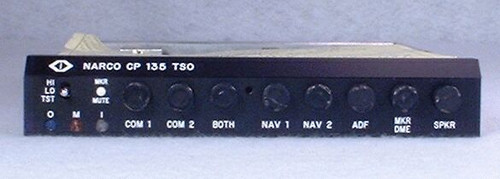 CP-135M Audio Panel and Marker Beacon Receiver Closeup