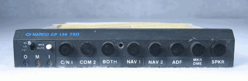 CP-136M Audio Panel with Marker Beacon Receiver Closeup