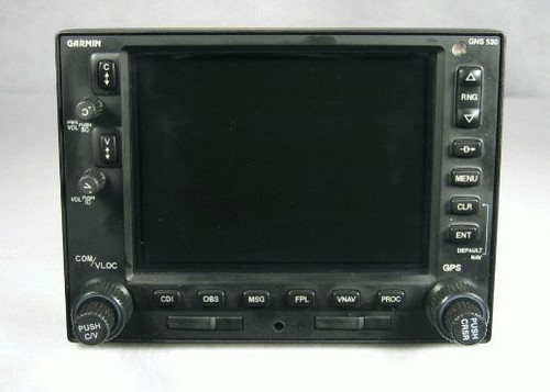 GNS-530 IFR GPS / NAV / COMM / MFD / Moving Map / Glideslope Closeup