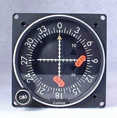 IND-351 GPS / VOR / LOC / Glideslope Indicator Closeup