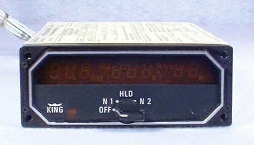 KDI-572 DME Indicator Closeup