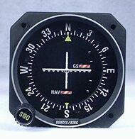KI-209 VOR / LOC / Glideslope Indicator Closeup