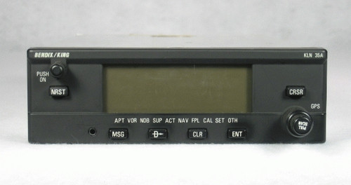 KLN-35A VFR GPS / Moving Map Closeup