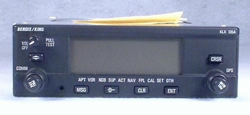 KLX-135A VFR GPS / Moving Map / COMM Transceiver Closeup