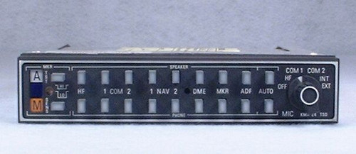 KMA-24 Audio Panel & Marker Beacon Receiver Closeup