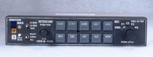 KMA-26 Audio Panel, Marker Beacon Receiver, and Intercom Closeup
