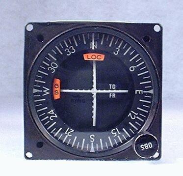 KNI-520 GPS / VOR / LOC / Glideslope Indicator Closeup