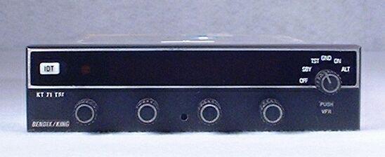 Serviceable KT-71 Transponder PN 066-01141-5101 Bendix King