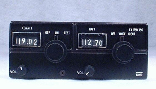 KX-175B NAV/COMM Closeup