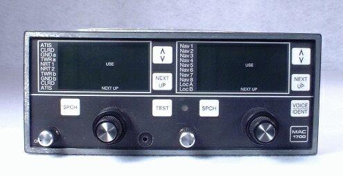 MAC-1700 NAV/COMM Closeup