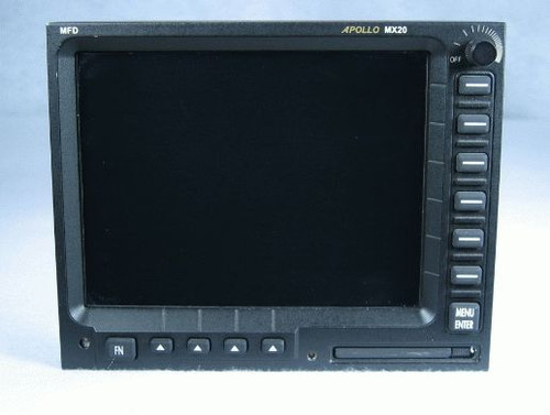Apollo MX-20 Multi-Function Display / Moving Map Closeup