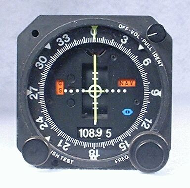 NAV-122 VOR / LOC / Glideslope Indicator / Glideslope Receiver / NAV Receiver / Marker Beacon Receiver and Indicator Closeup