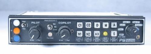 PMA-6000MS Audio Panel, Marker Beacon Receiver, and Stereo Intercom Closeup