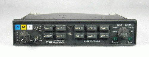 PMA-7000B Audio Panel, Marker Beacon Receiver, and Stereo Intercom Closeup