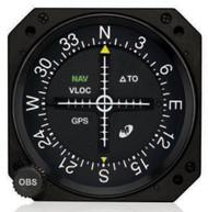 MD200-706 GPS / VOR / LOC / Glideslope Indicator Closeup