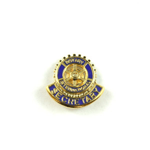 Rotary Secretary Lapel Pin