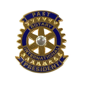 Rotary Past President Lapel Pin with Stone