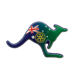 Rotary Kangaroo Pin - Flag Design