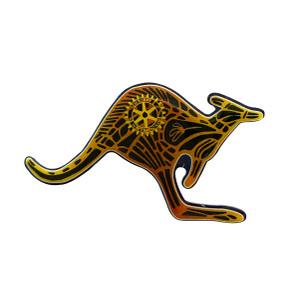 Rotary Kangaroo Pin - Australiana Design
