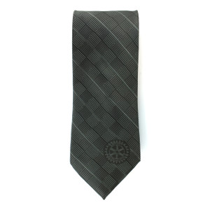 Rotary Grey Corporate Tie