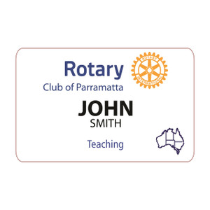 Rectangular Rotary Member Dinner Badge