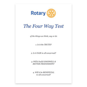 Rotary Four Way Test Certificate