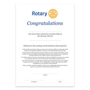 Rotary Induction Certificate
