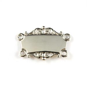 Silver Collar Bar - Scrolled