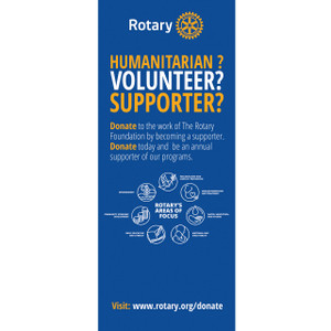 Rotary Foundation Areas of Focus Pull-up Banner