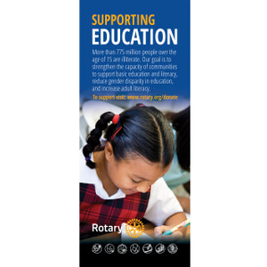 Rotary Foundation Basic Education Pull-up Banner