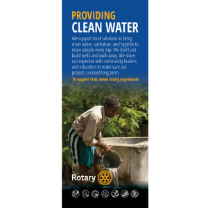 Rotary Foundation Water Pull-up Banner