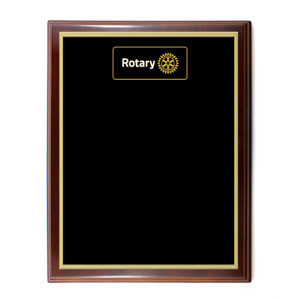 Custom Black Rotary Plaque