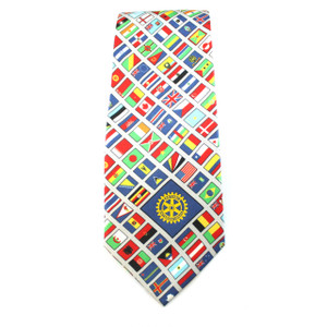 Rotary World Flag Tie