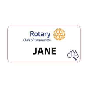 Rectangular Rotary Partner Dinner Badge