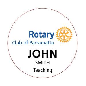 Round Rotary Member Dinner Badge