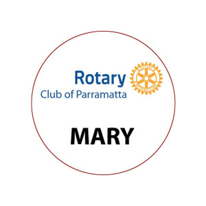 Round Rotary Partner Dinner Badge