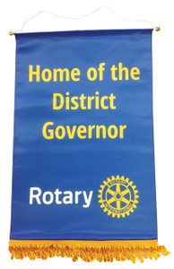 Home of the District Governor Podium Banner