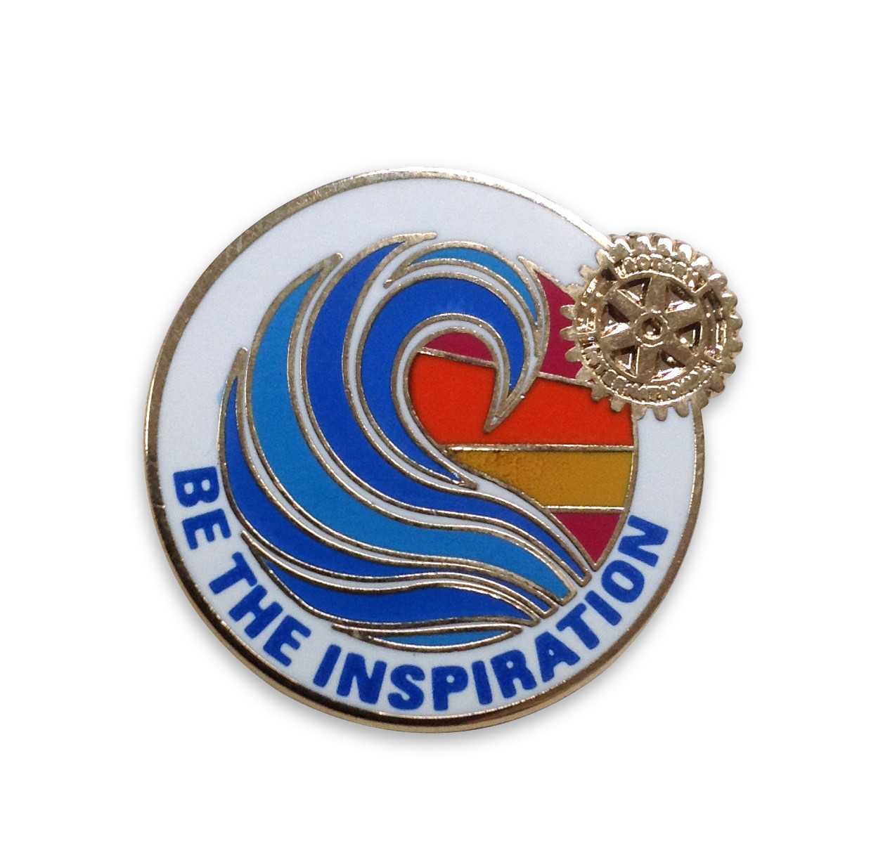 Rotary 2018-19 Theme Pin-back Lapel Pin