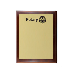 Custom Rotary Plaque (small)
